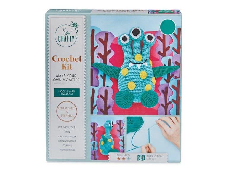 Teal Spotted Monster Crochet Kit