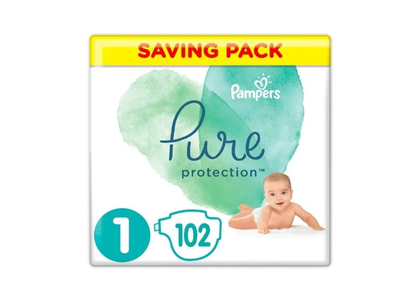 4. Pampers Pure Protection Nappies (102 pack)