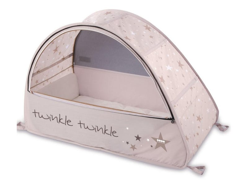 4. Pop Up Sun and Sleep Bubble Travel Cot