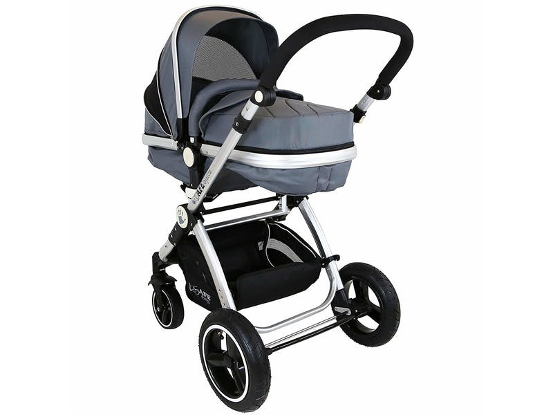 2. i-Safe System - Grey Trio Travel System Pram & Stroller 3-in-1