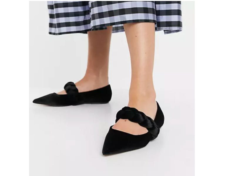ASOS Plaited Pointed Ballet Flats