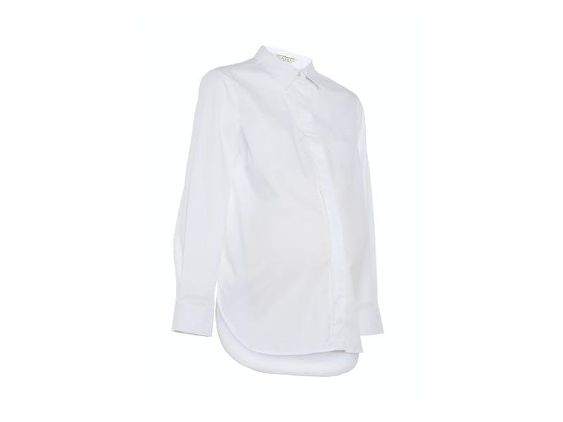 White Maternity Poplin Shirt