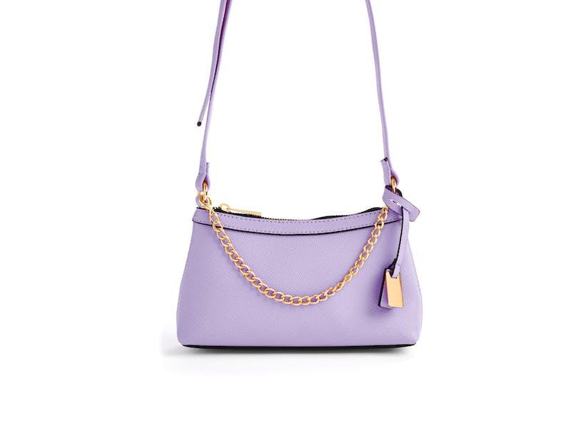 9. Lilac Goldtone Mini Crossbody Bag, £5