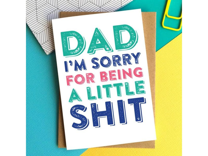4. Dad I'm Sorry Card, £3.75