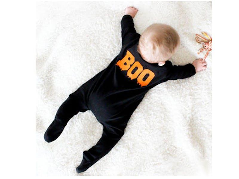 'Boo' Baby Halloween Black Sleepsuit