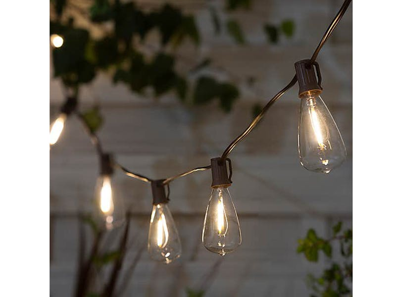 6. LED Solar Outdoor String Lights, £15