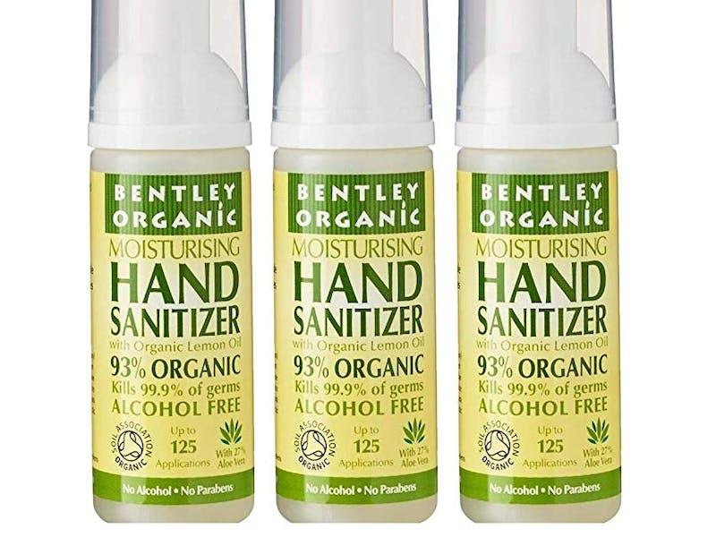 1. Bentley Organic Moisturising Lemon Hand Sanitiser (six-pack)