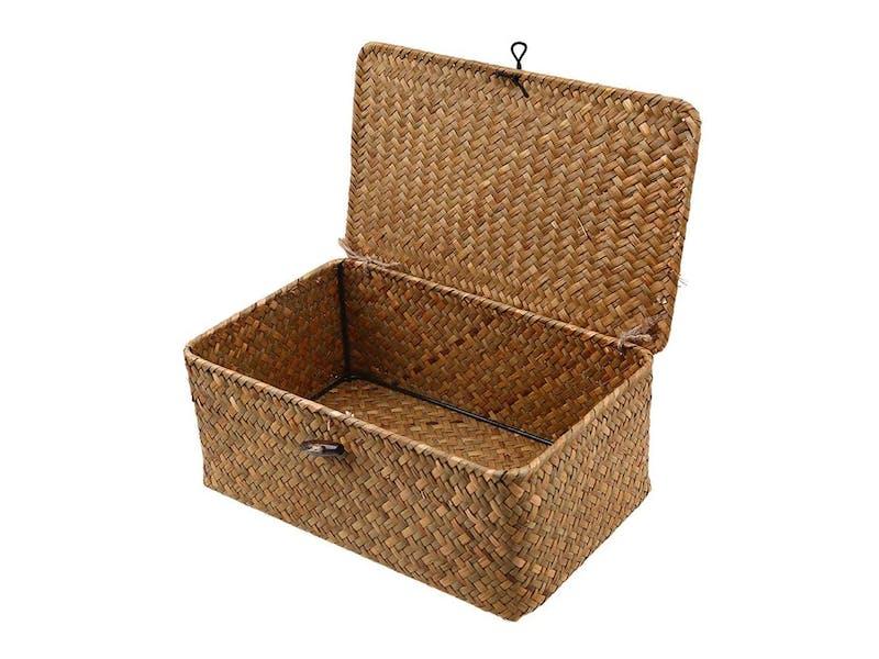 Woven Rattan Storage Box