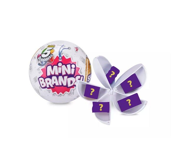 1. 5 Surprise Mini Brands Mystery Capsule, £12