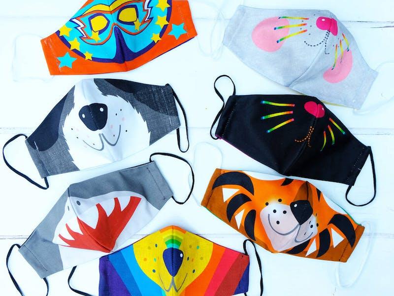 kids animal face masks