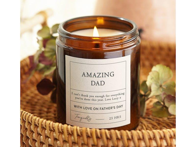 Amazing dad candle