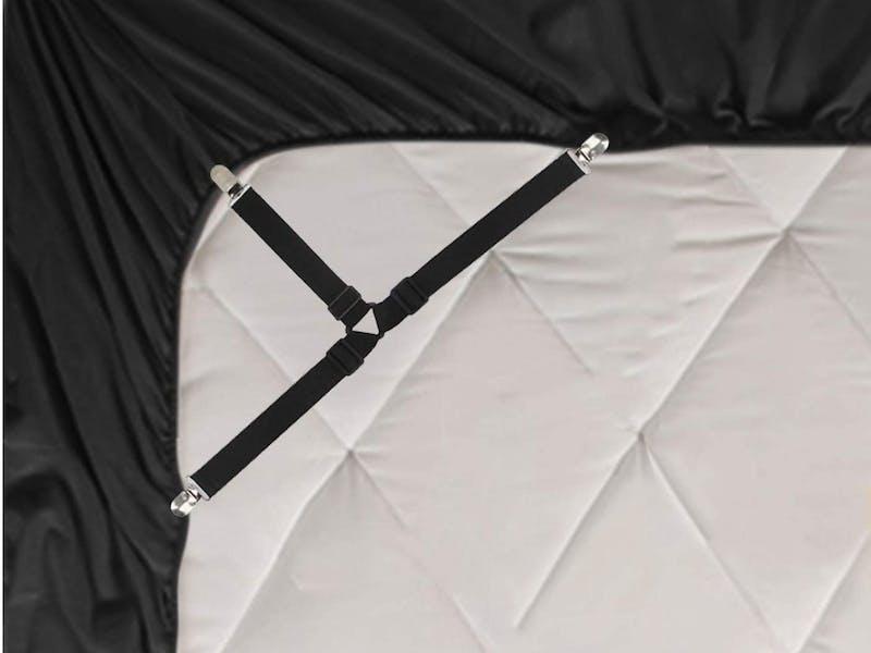 6. Elastic Bed Sheet Suspenders