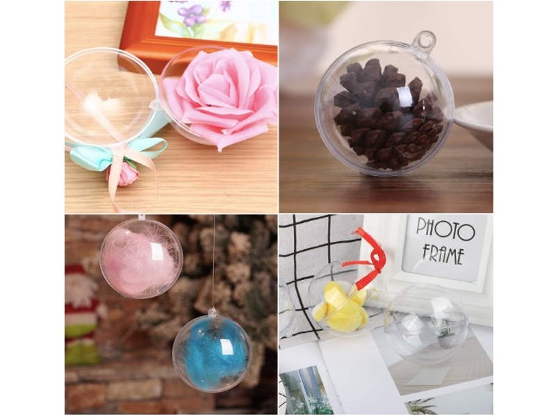 1. DIY Fillable Christmas Baubles