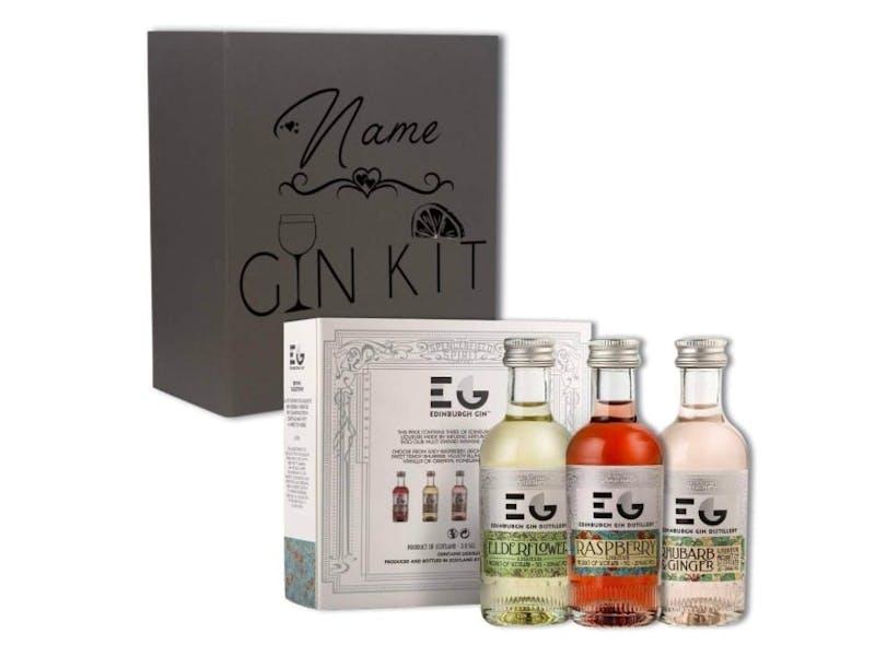 1. Personalised Edinburgh Gin Gift Set