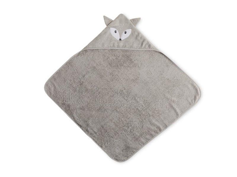 Fox Hooded Baby Towel/Mitt