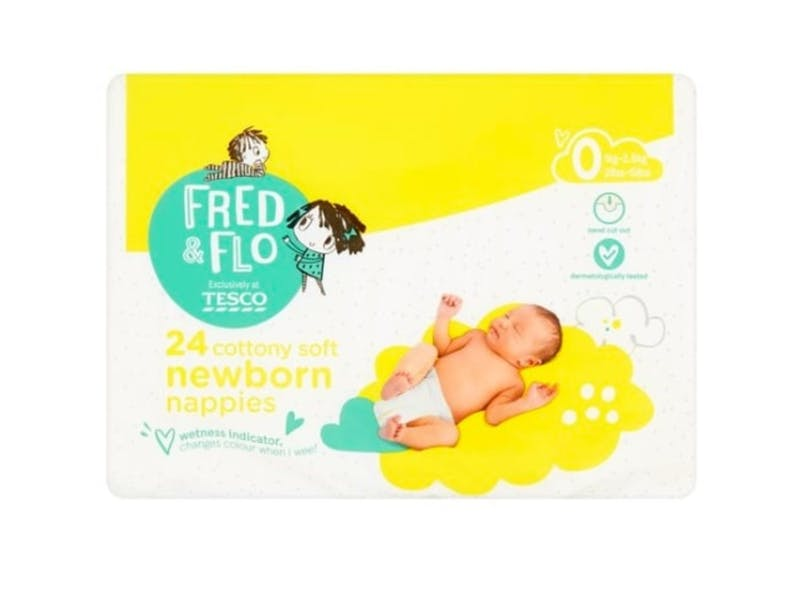 7. Fred & Flo Newborn Nappy (24 pack), £0.89