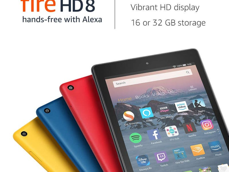 1. Fire HD 8 Tablet WAS, £79.99 NOW