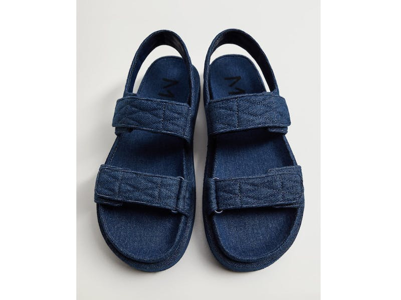 Denim cotton sandals
