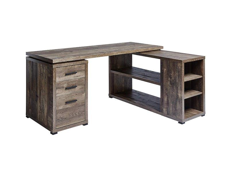 1. Oak-style Corner Desk