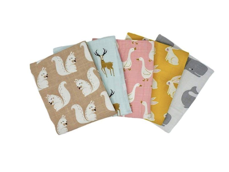 1. Organic Muslin Cloths (five-pack)
