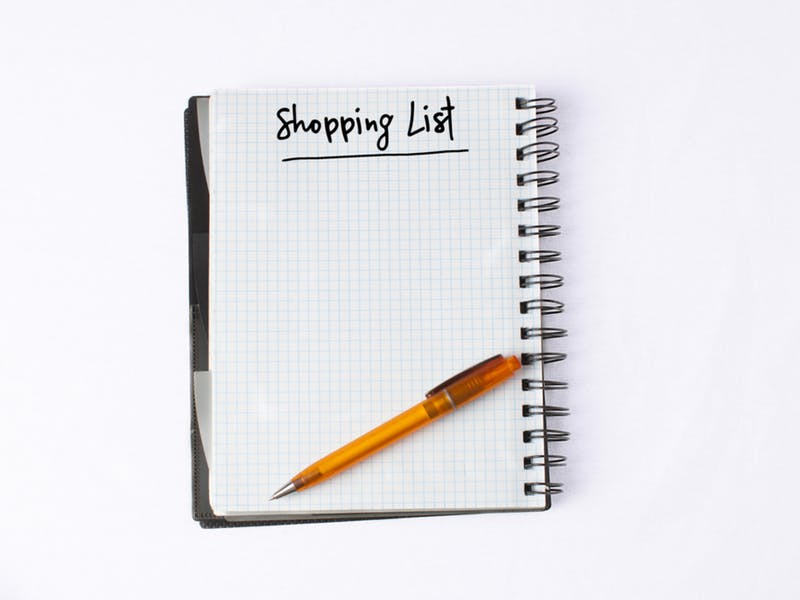 1. Make a shopping list (and stick to it)