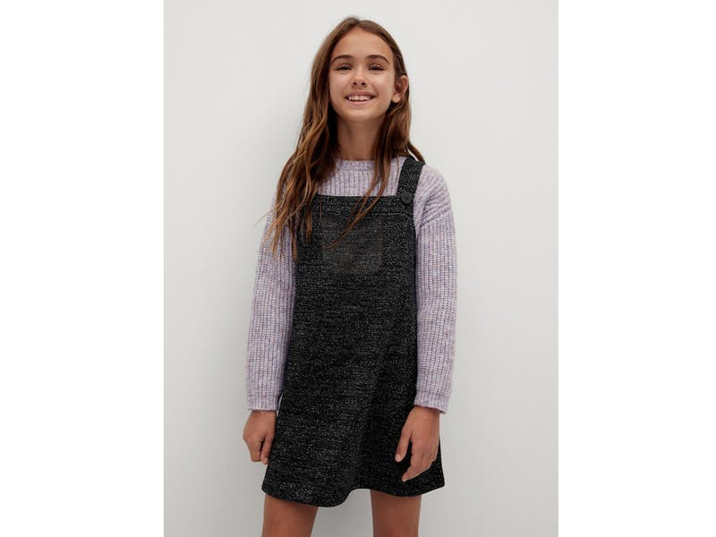 Knitted pinafore dress