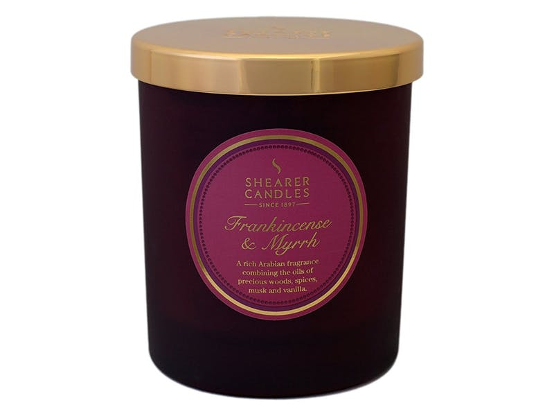 5. Frankincense And Myrrh Scented Jar Candle