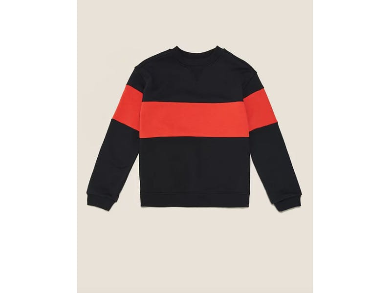 Organic Cotton Colour Block Sweatshirt