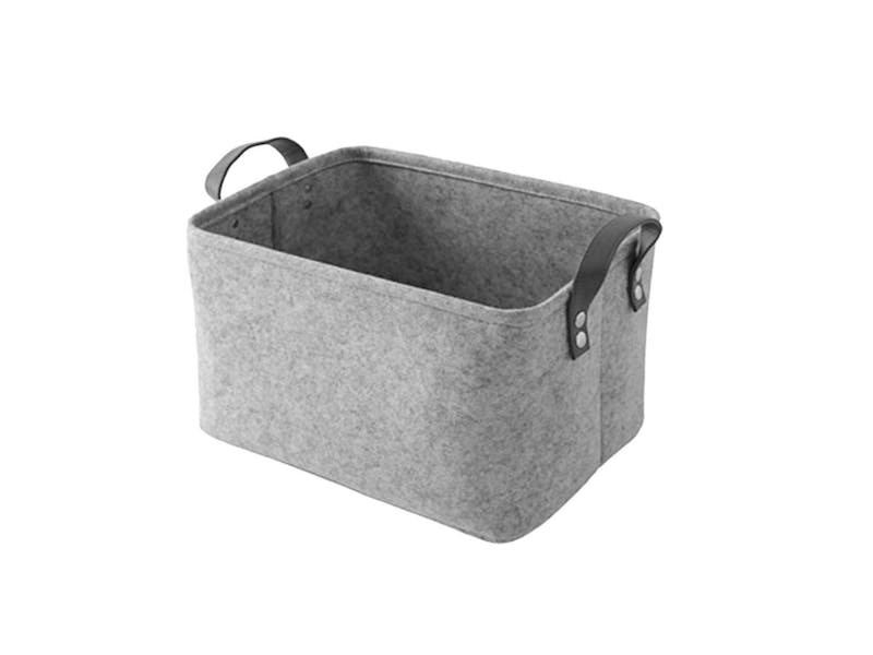 1. Grey Felt Storage Box