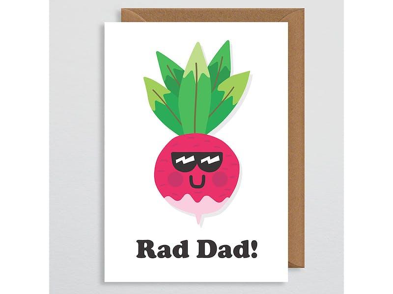 Rad Dad pun card
