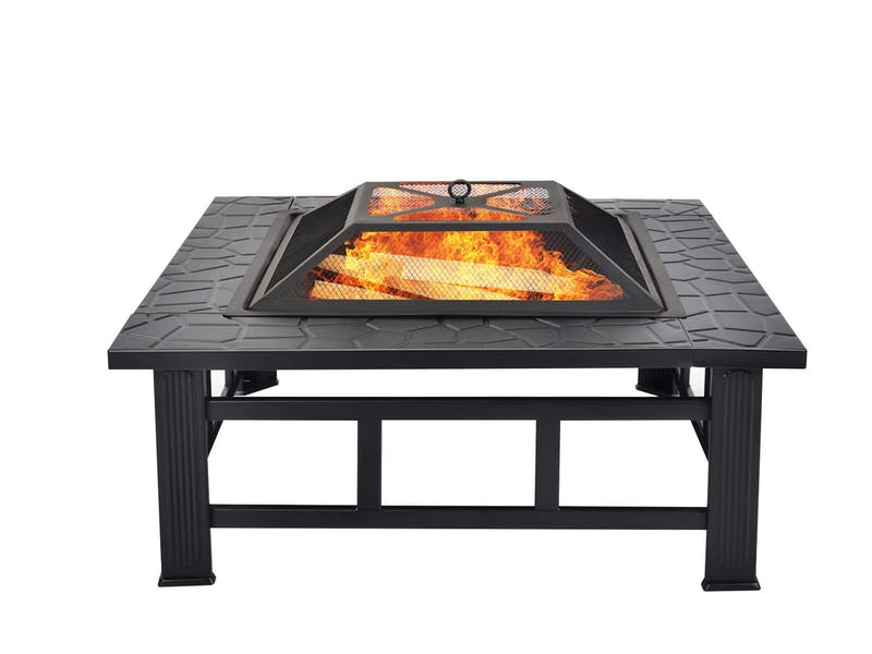 Fire Pit with BBQ Grill