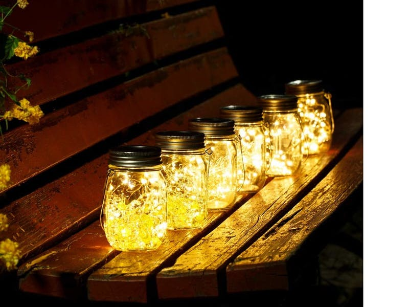 1. LED Votive Glass Jar Lights, £30.99