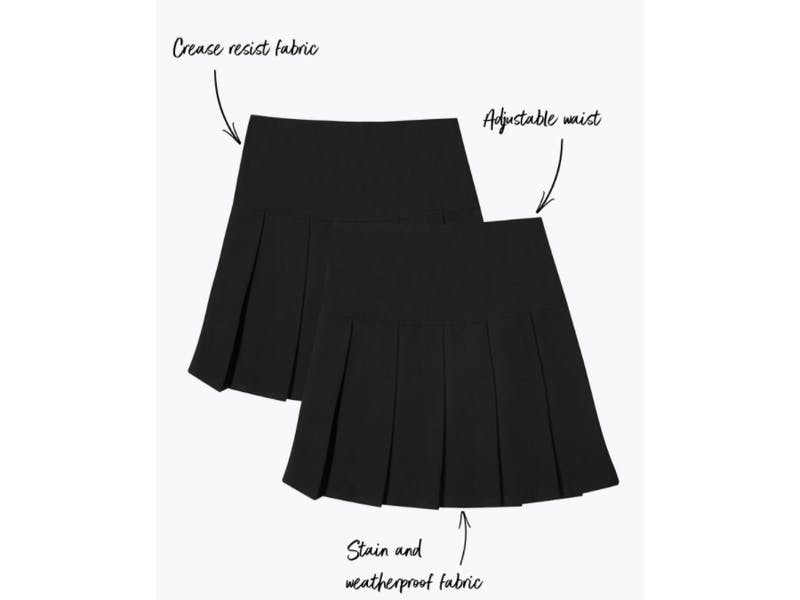 Crease Resistant Pleated Skirts