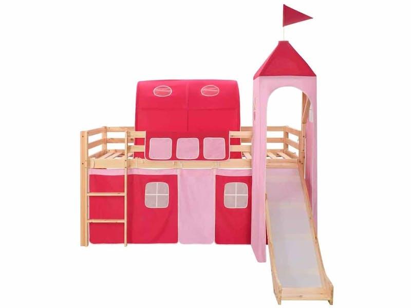 Loft Bed Frame with Slide