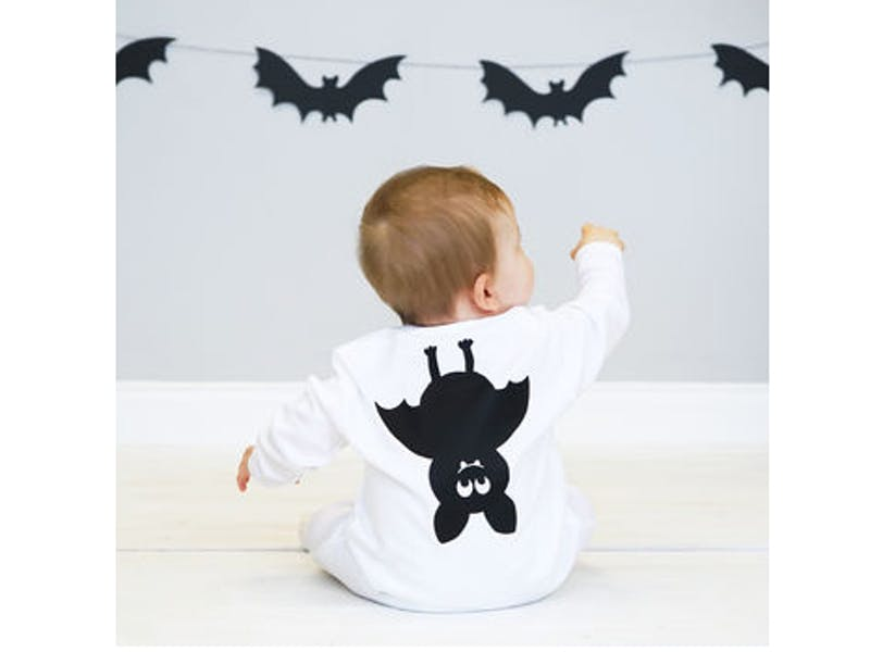 Halloween Bat Baby Sleepsuit