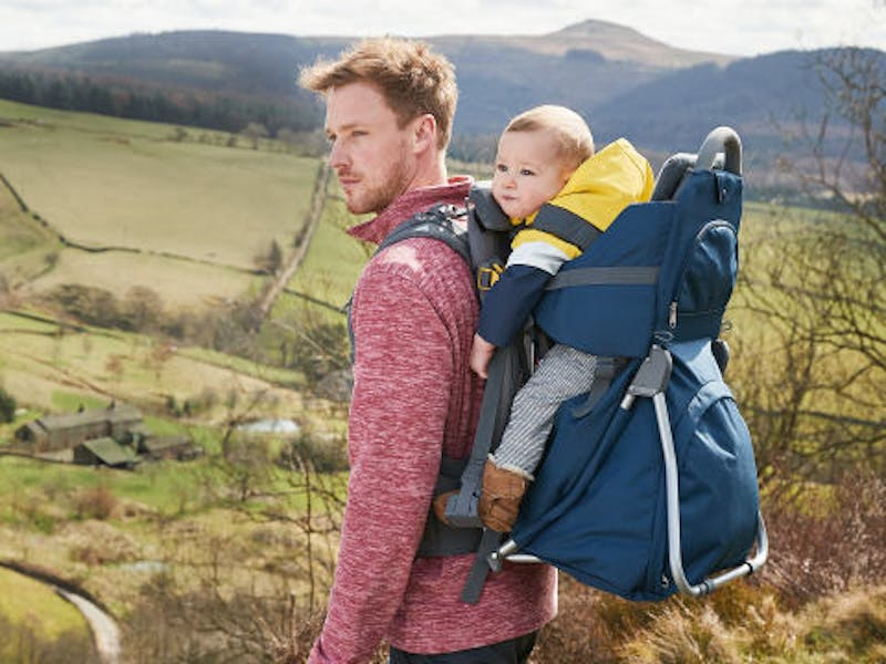 Blue Hiking Baby Carrier