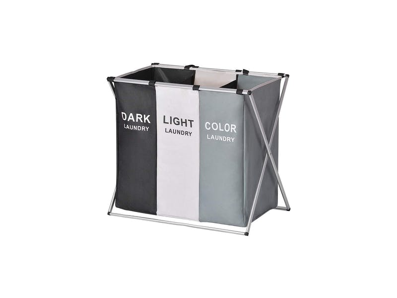 three section laundry bag