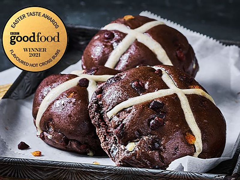 The Extremely Chocolatey Hot Cross Buns M&S