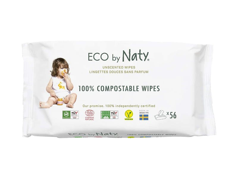 Eco by Naty Unscented Baby Wipes