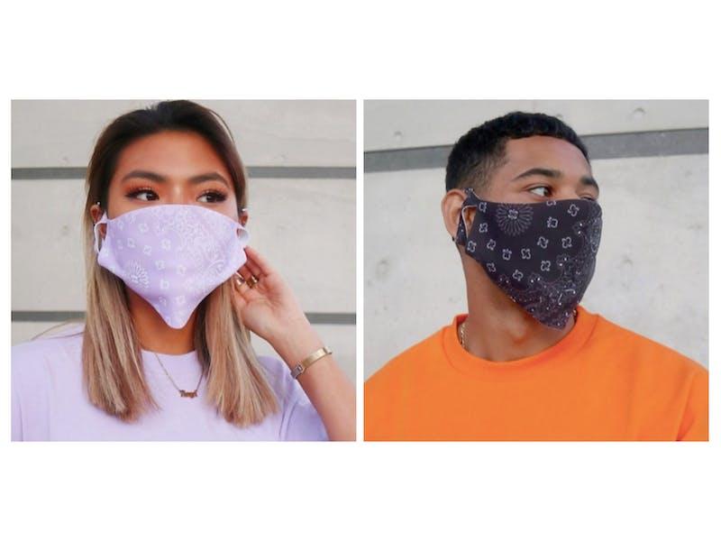 Bandana print face masks