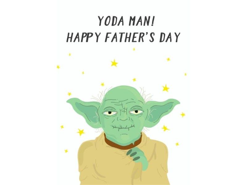 2. Yoda Man Father's Day Card, £3.19