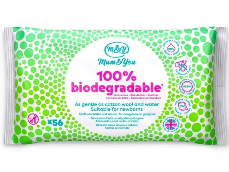 8. Mum & You Biodegradable Baby Wipes (12-pack)