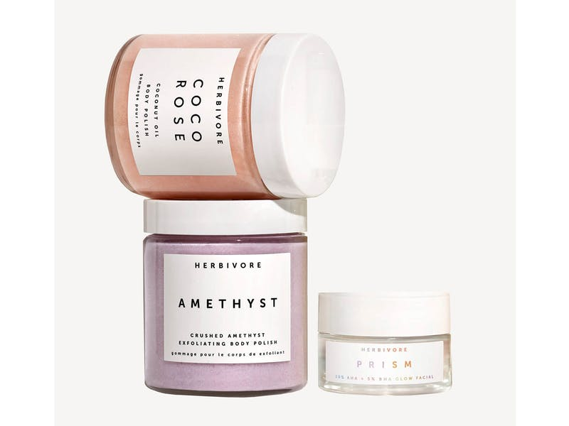 Herbivore Exfoliate and Glow From Head to Toe Set