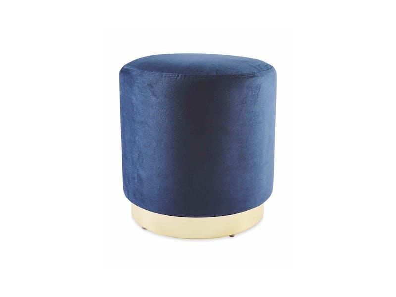 1. Navy Velvet Footstool, £19.99