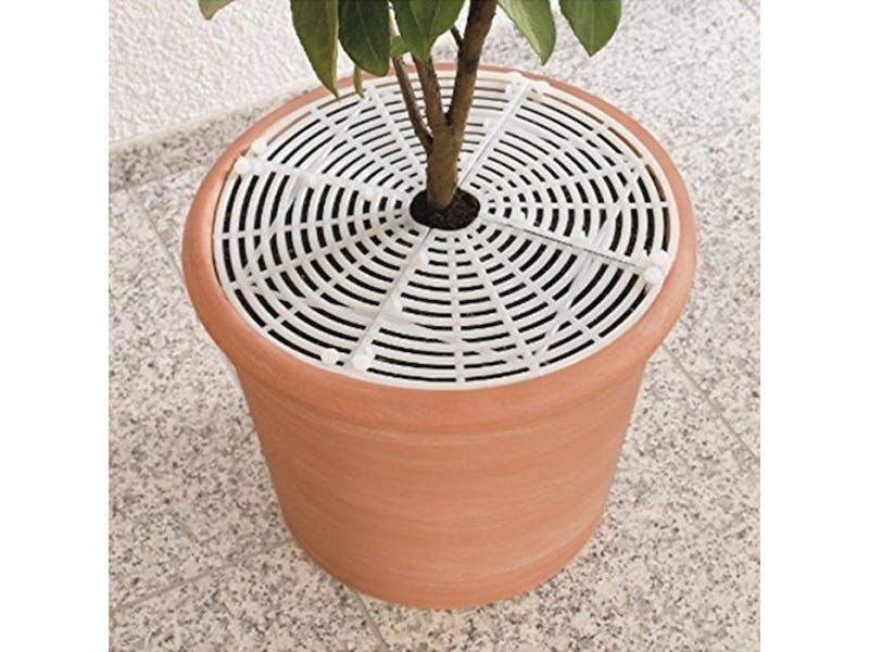 1. Safetots Plant Pot Soil Guard White