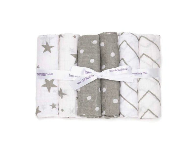 4. Organic Cotton Muslin Squares (Pack of Six)