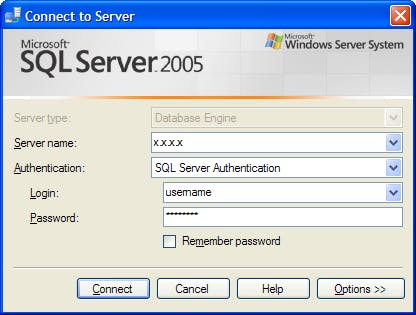 Connect To MS SQL Server 2005