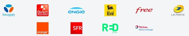 Fournisseurs internet et énergie