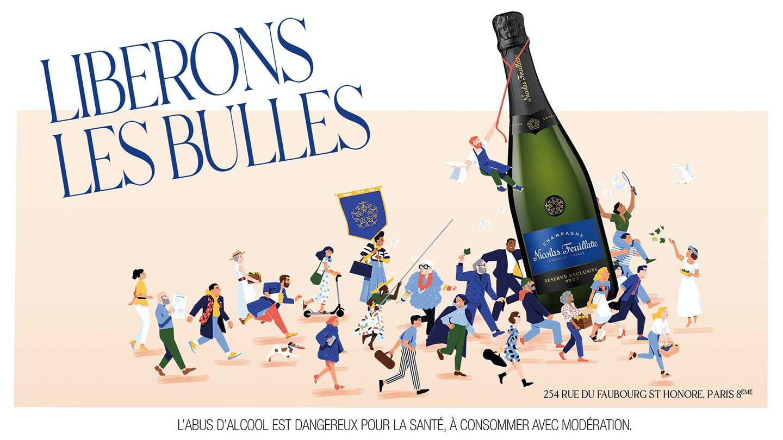 Champagne Nicolas Feuillatte libère les bulles!