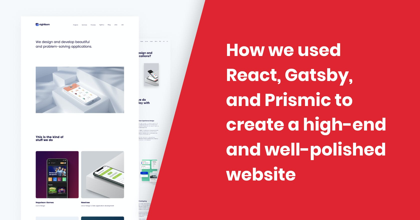 Nightborn - How we used React, Gatsby, and Prismic to create a high-end and well-polished website